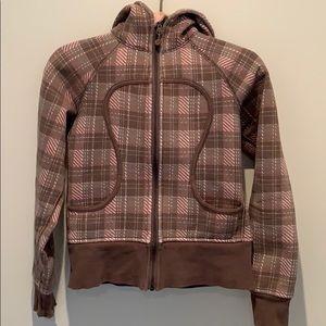 Lululemon plaid scuba zip up hoodie
